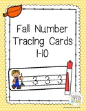 Fall Number 1-10 Tracing Cards