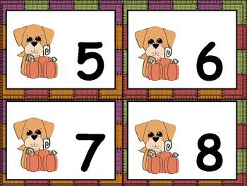 Fall Number Bingo Game- 1 to 25 Kindergarten