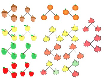 Fall Number Bond Clipart Color