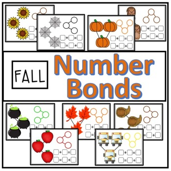 Fall Number Bond Math Mats (Composing and Decomposing Numbers)