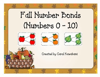 Number Bonds for Fall (Numbers 0-10)