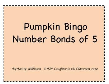 Fall Number Bonds of 5 Bingo