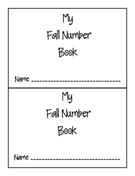 Fall Number Book- Sequencing Numbers