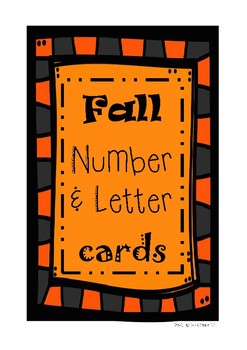 Fall Number and Letter Cards