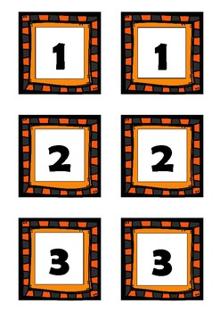Fall Pre-K and Kindergarten Number & Letter Cards