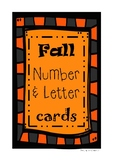 Fall Pre-K and Kindergarten Number & Letter Cards