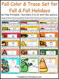 Fall Number Color and Trace Bundle