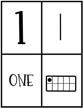 Fall Number Fluency Puzzle Cards | English | 1-10