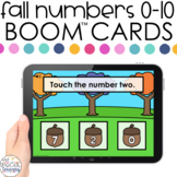 Fall Number ID 0-10 Boom™ Cards - Distance Learning for Sp