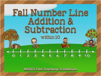 Fall Number Line Addition & Subtraction Within 10
