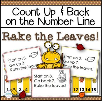 Autumn Number Line Addition and Subtraction