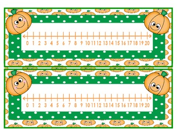 Fall Number Lines   0 - 10 & 0 - 20