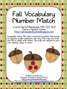Fall Number Match