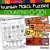 Fall-Themed Number Match Puzzles