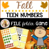 Fall Number Match Up File Folder Game (Numbers 10-20)