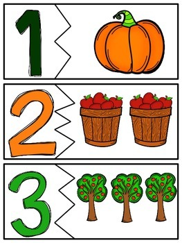 Fall Number Matching 1-20