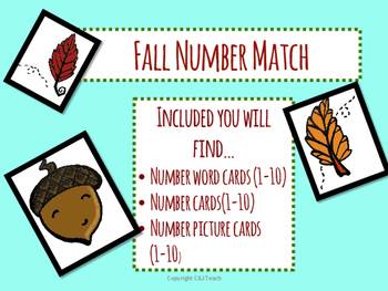 Fall Number Matching - Math Center