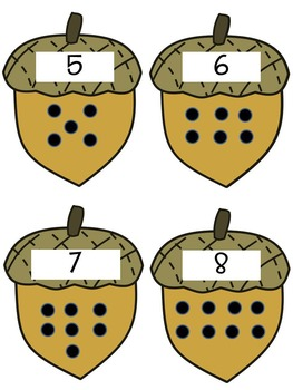 Fall Number Matching Game