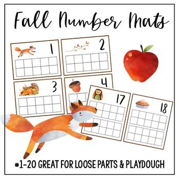 Fall Number Mats TAPIS DE NUMÉROS