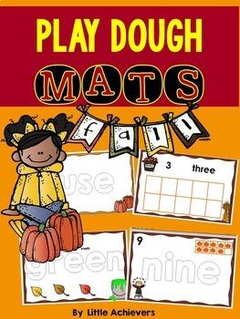 Fall Playdough Mats