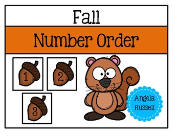 Fall Number Order - Cut And Paste Sheets