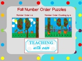 Fall Number Order Puzzles Counting by 1's and 10's