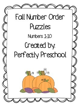 Fall Number Order Puzzles {Dollar Deal}