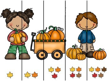 Fall Number Ordering Puzzles 1-5
