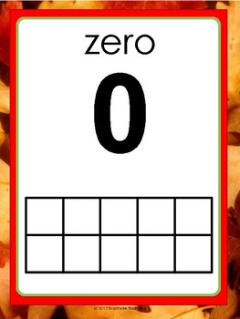 Fall Number Posters with Ten Frames