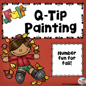 Fall Q-tip Painting Numbers