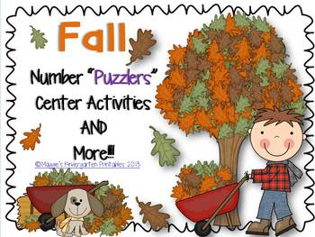 """Fall Number """"Puzzlers"""" and More Center Activities"""