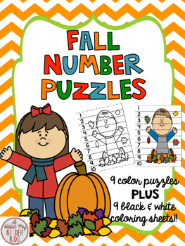 Fall Number Puzzles 1-10 & 11-20 K.CC.1