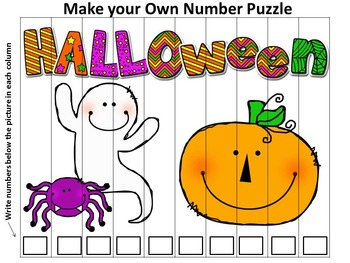 Fall Number Puzzles 1-100, 2s, 5s and 10s Skip Counting