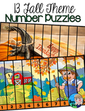 Fall Number Puzzles Halloween