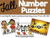 Fall Number Puzzles {Counting Backwards & Forwards 30-100}