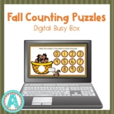 Fall Number Puzzles Digital Busy Box for Distance Learning