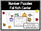 Fall Number Puzzles- Kindergarten Math Center