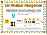 Fall Number Recognition 0-10 Matching Cards