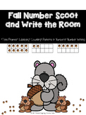 Fall Number Scoot and Write The Room