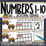Fall Number Sense 1-10  counting, matching, reading & writing numbers 1-10