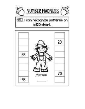 Fall Number Sense Interactive Notebook