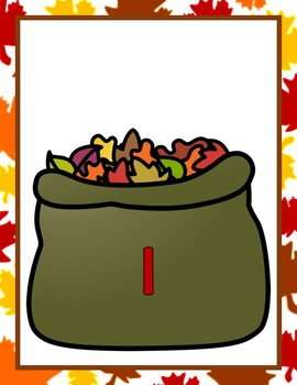 Fall Number Sense Leaf Bags!  Quick Center: Math