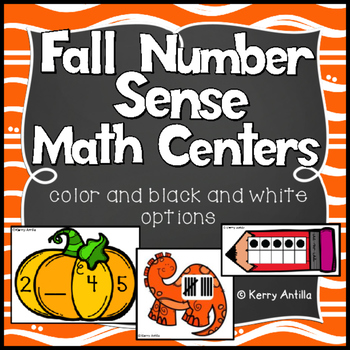 Fall Number Sense Math Centers