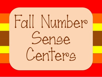 Fall Number Sense Math Centers - Kindergarten