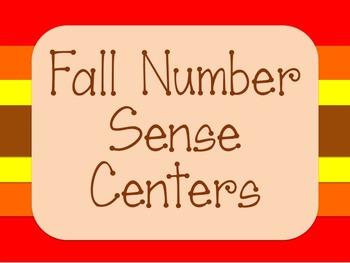 Fall Number Sense Math Centers - Kindergarten