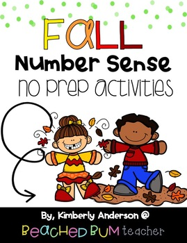 BUNDLE: Fall Number Sense Mental Math: Differentiated (2 Products)