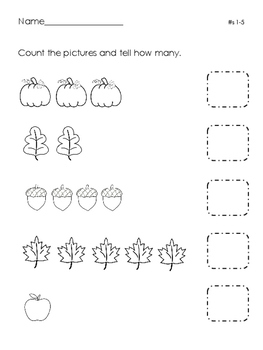 Fall Number Sense Pack
