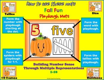 Fall Number Sense Playdough Mats Bundle