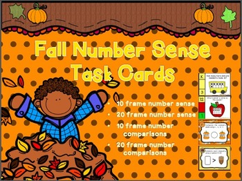 Fall Number Sense Task Cards (Set of 4)