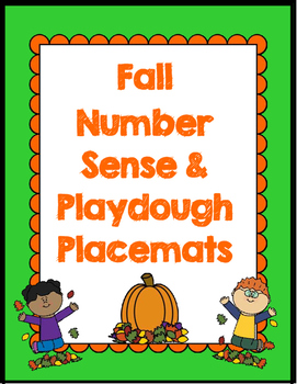 Fall Number Sense and Play-dough Placemats